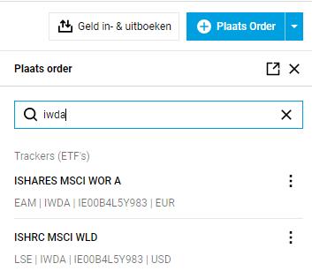 DeGiro transacties