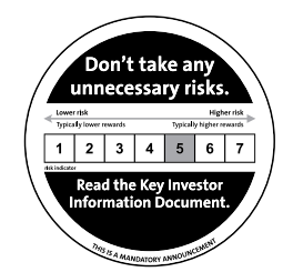 Verplichte waarschuwing van het risico van de ETF.