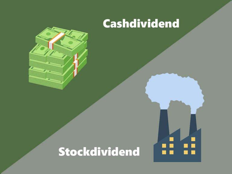 verschil cashdividend